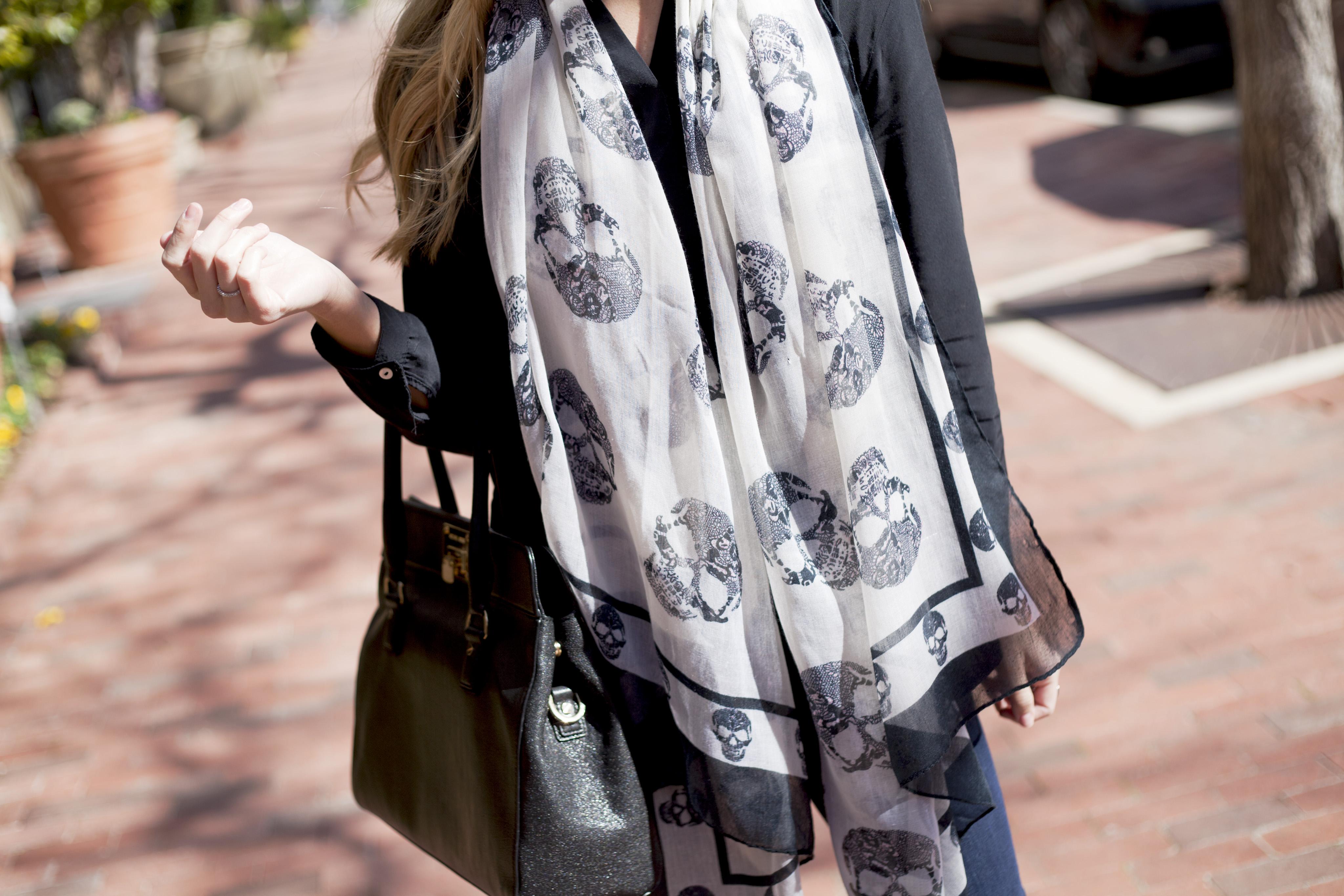 Alexander McQueen scull scarf copy