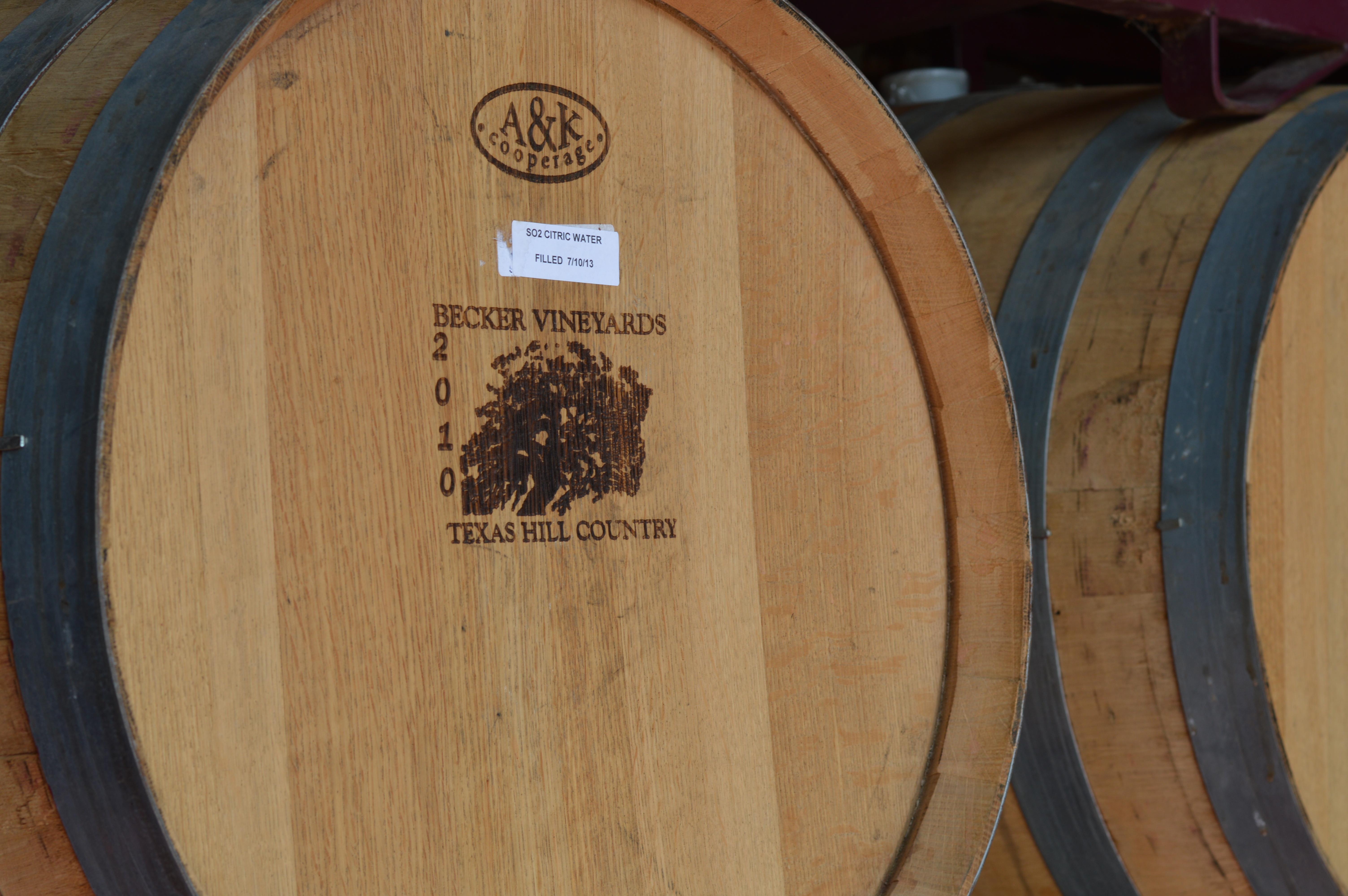 becker vineyard barrel