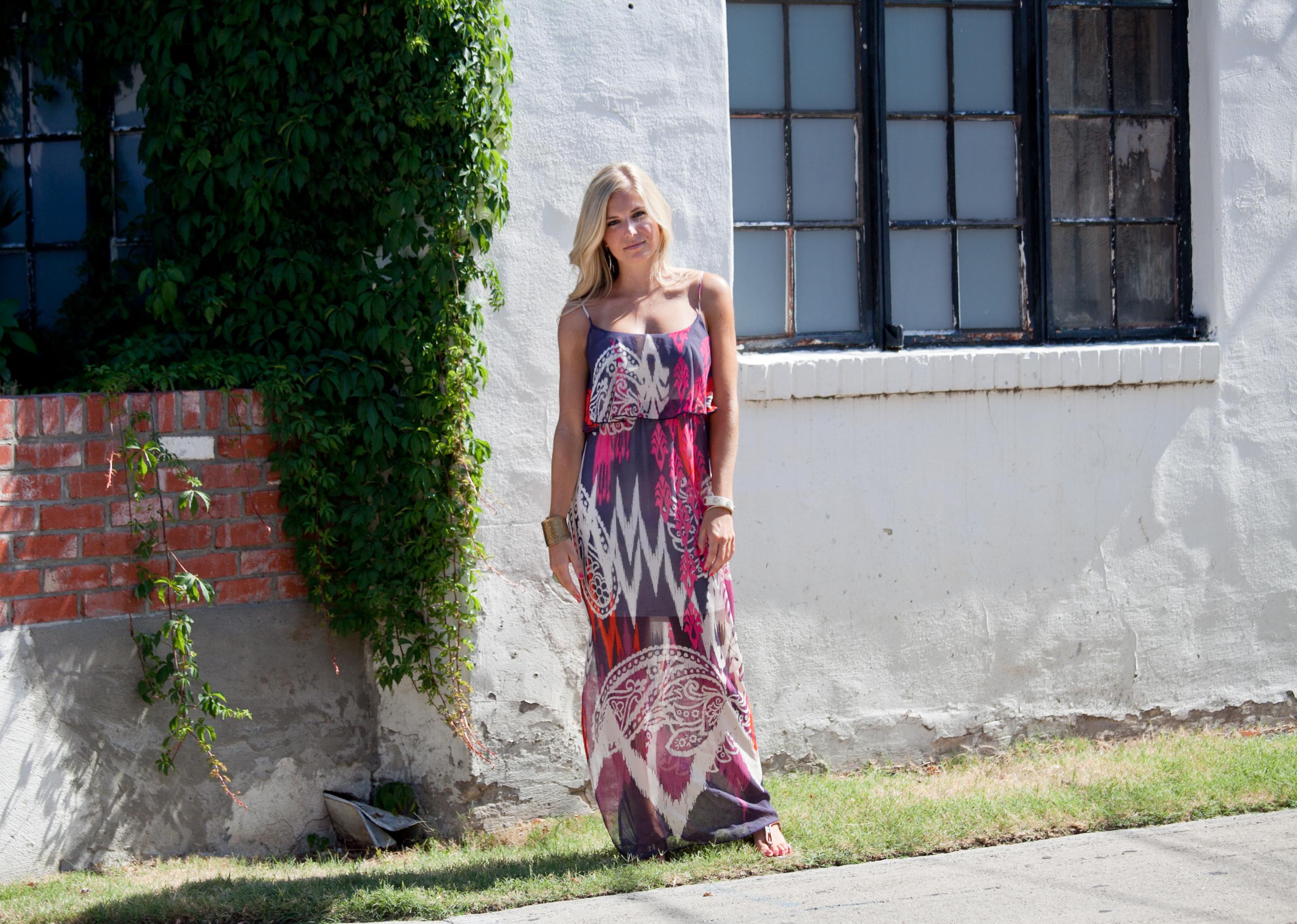 patterned dress long