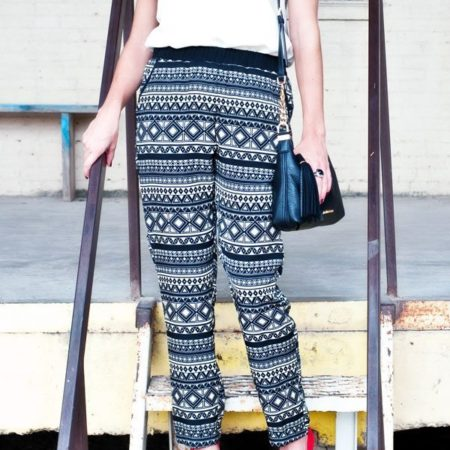 printed pants from Target