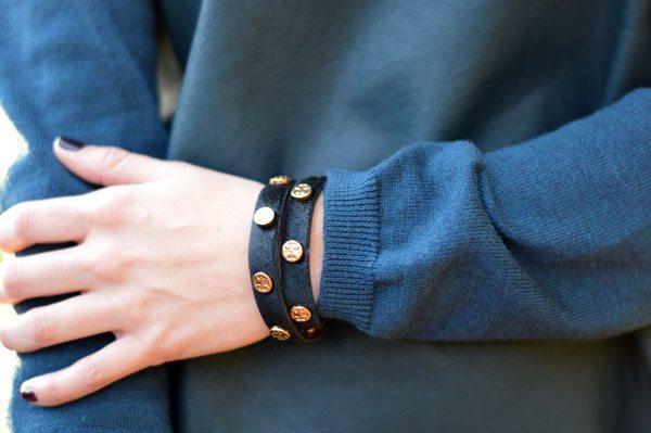 Tory Burch calf hair bracelet