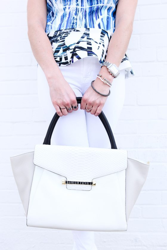 Vince Camuto white bag