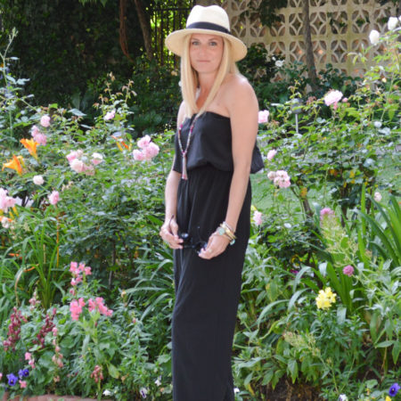 black maxi jumper