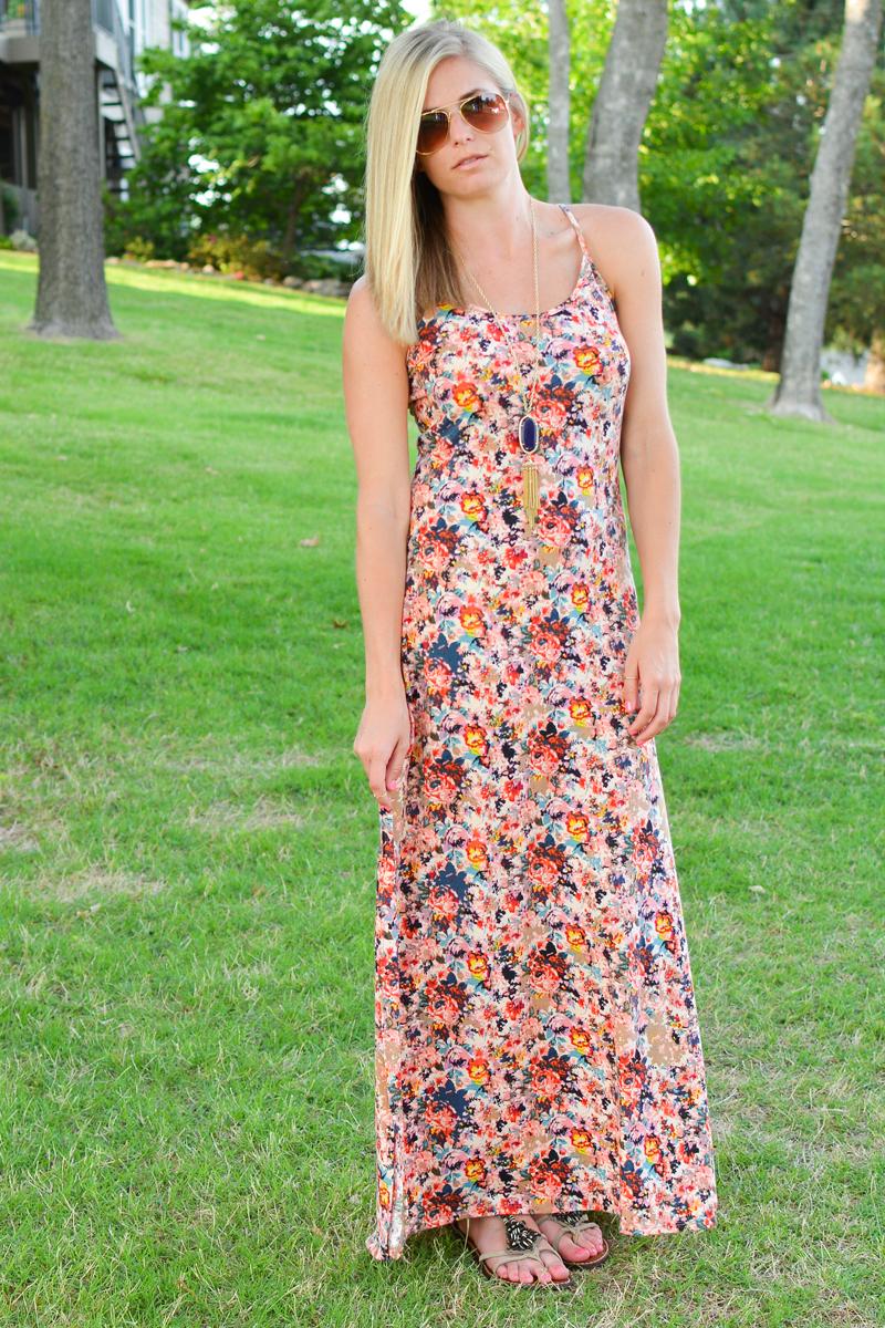Target floral maxi dress
