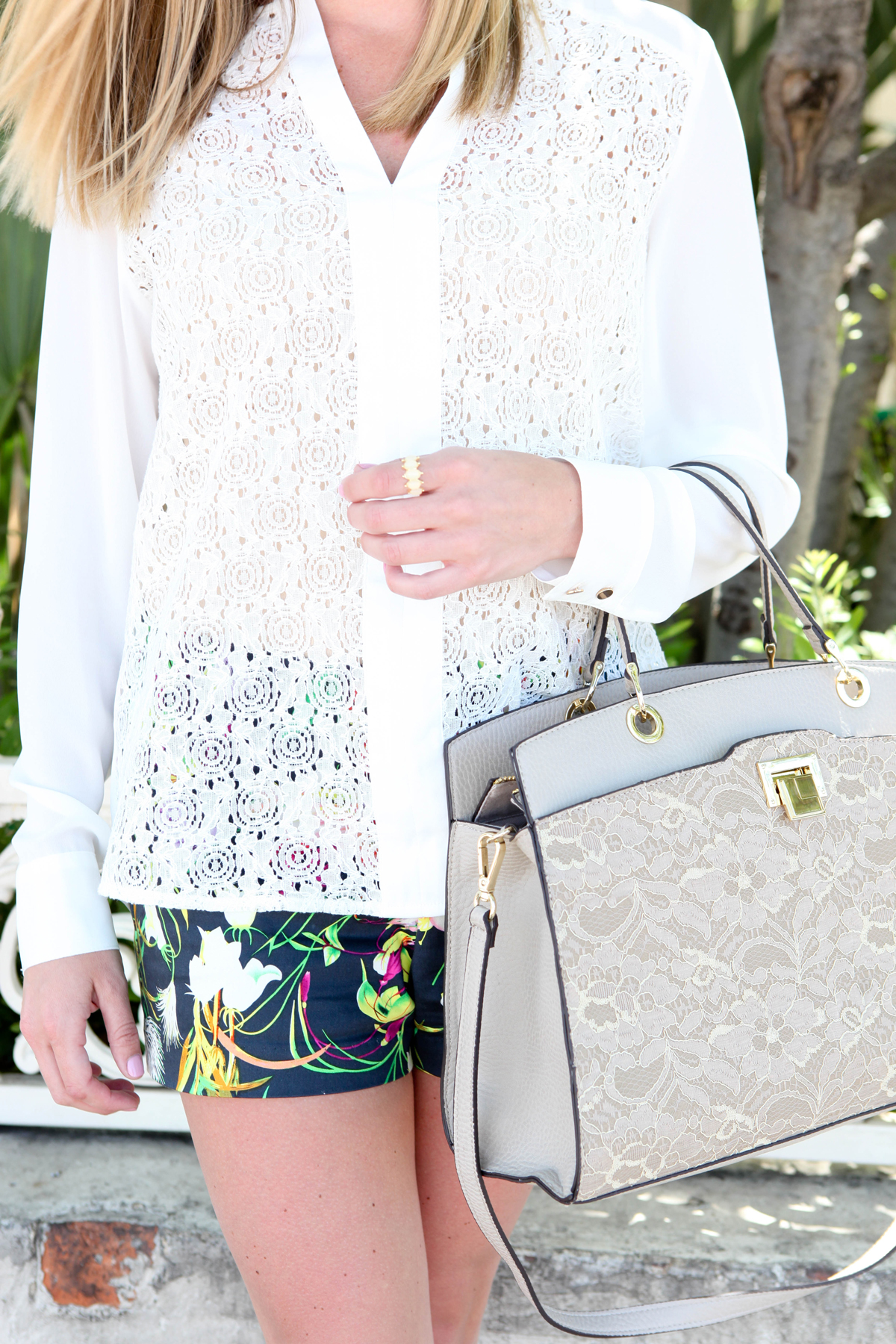 The Limited lace purse and top