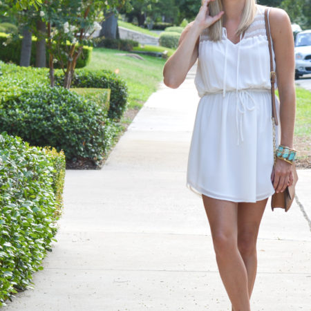 white casual dress