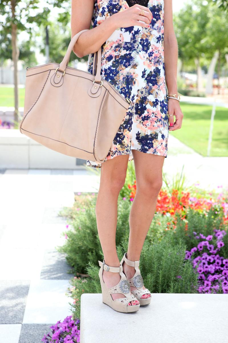 Summer Floral Dress One Small Blonde Dallas Fashion Blogger