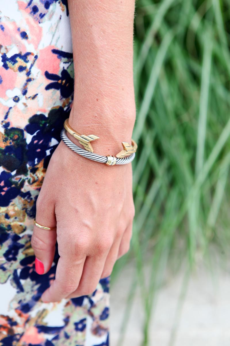 gold J Crew bracelet