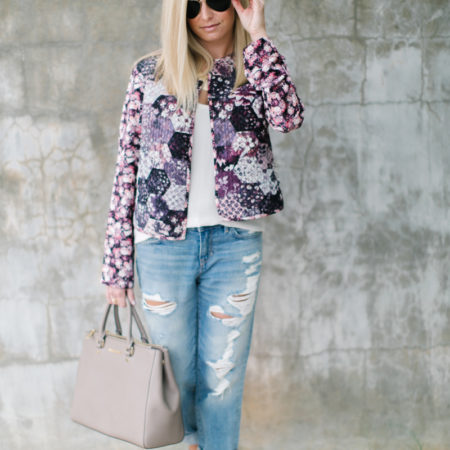 Quilted Jacket Floral