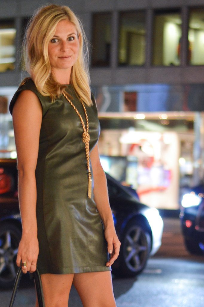 Olive Leather Dress One Small Blonde Dallas Fashion