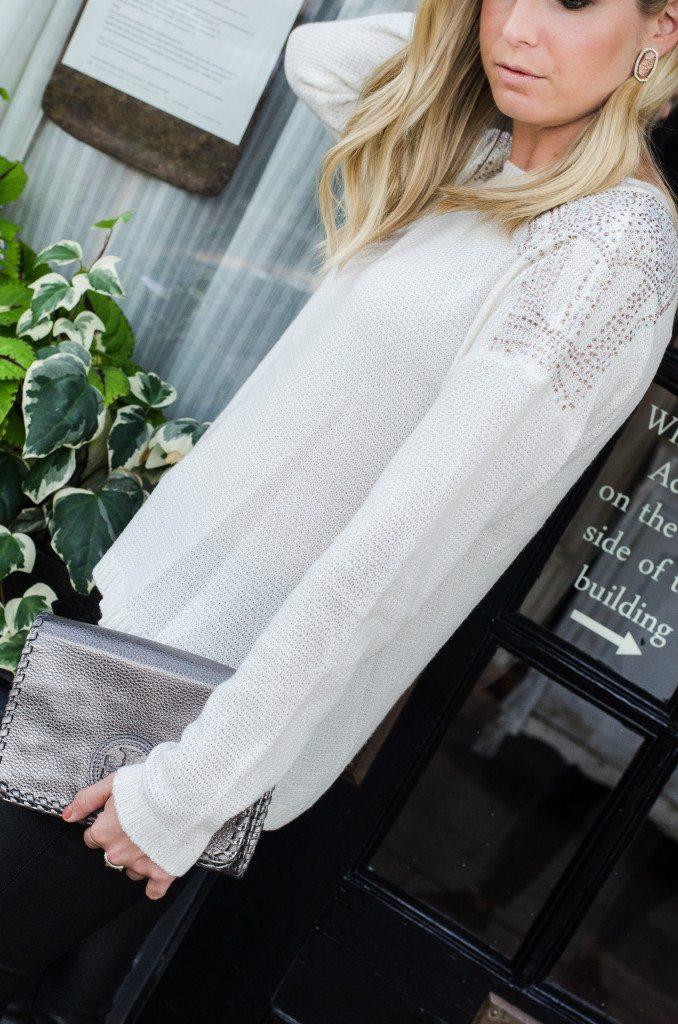 nicole by nicole miller winter white sweater