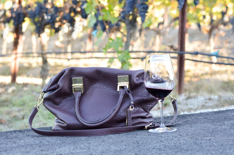 berry color satchel