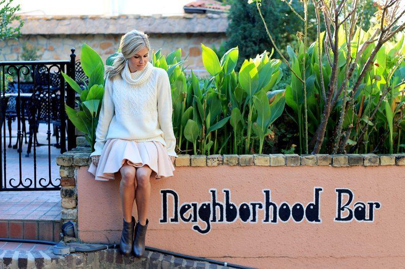 sleeveless blush dress