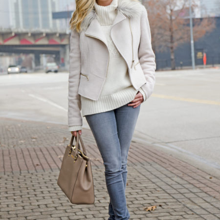 winter white jacket