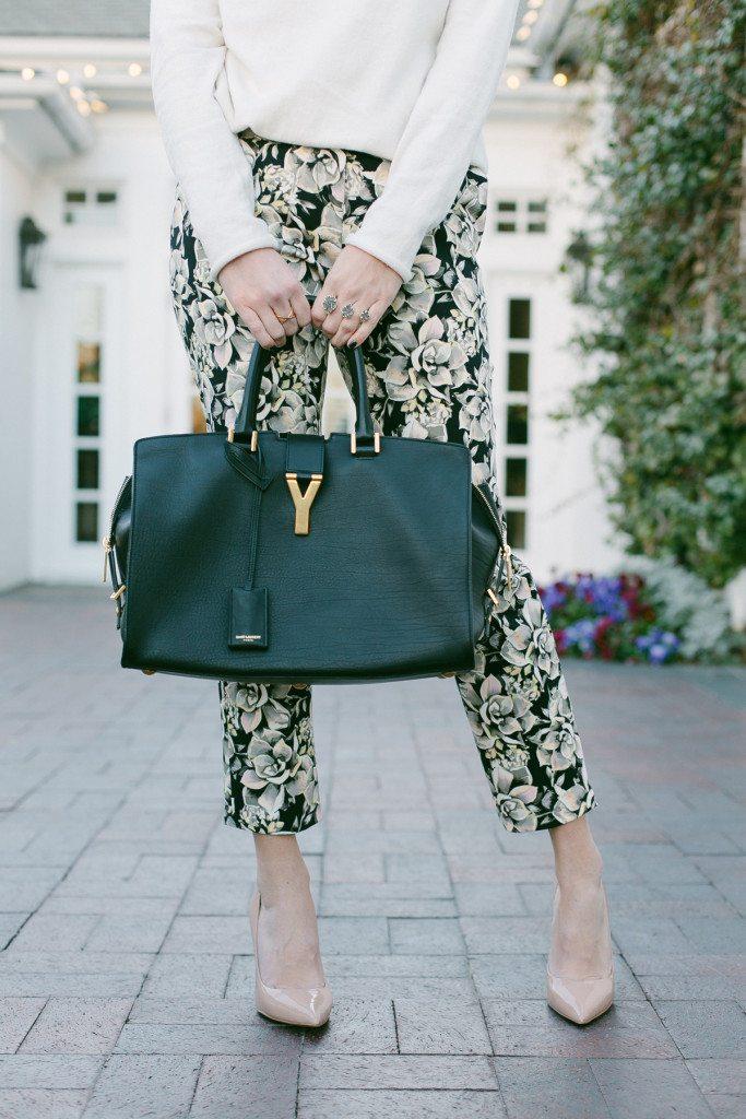 floral cigarette pants