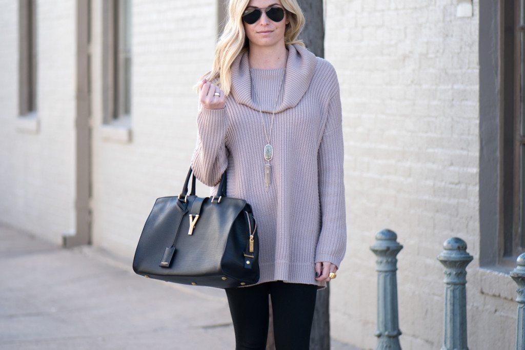oversized cowl neck sweater