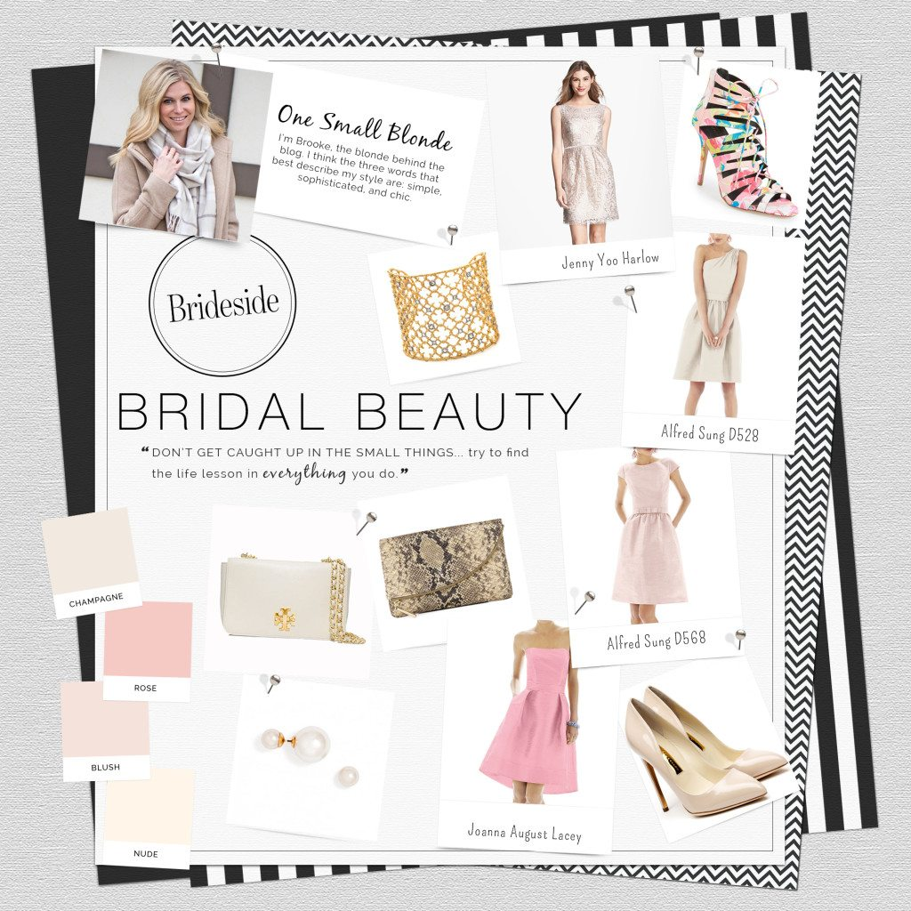 blush colored bridal trends