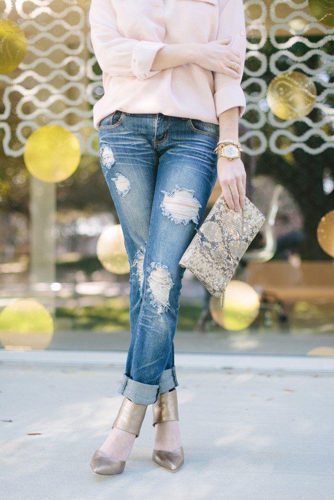 pewter metallic heels