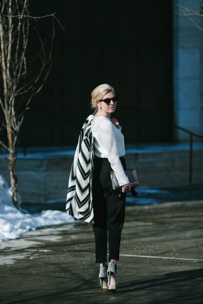 white crochet sleeve top