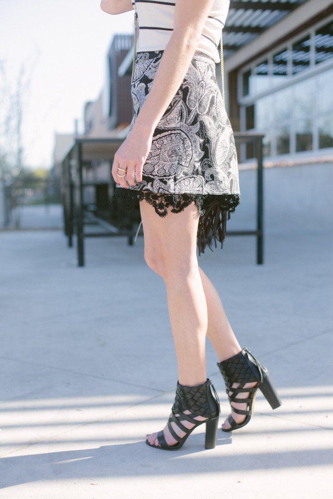 black woven sandal