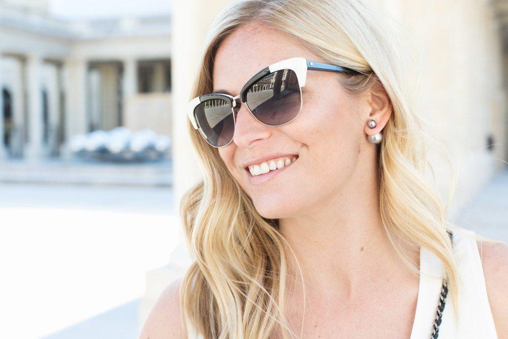 black and white sunglasses