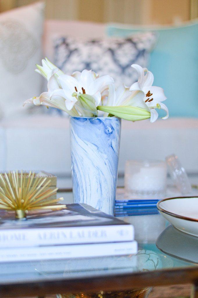 blue swirl taper vase furbish studio