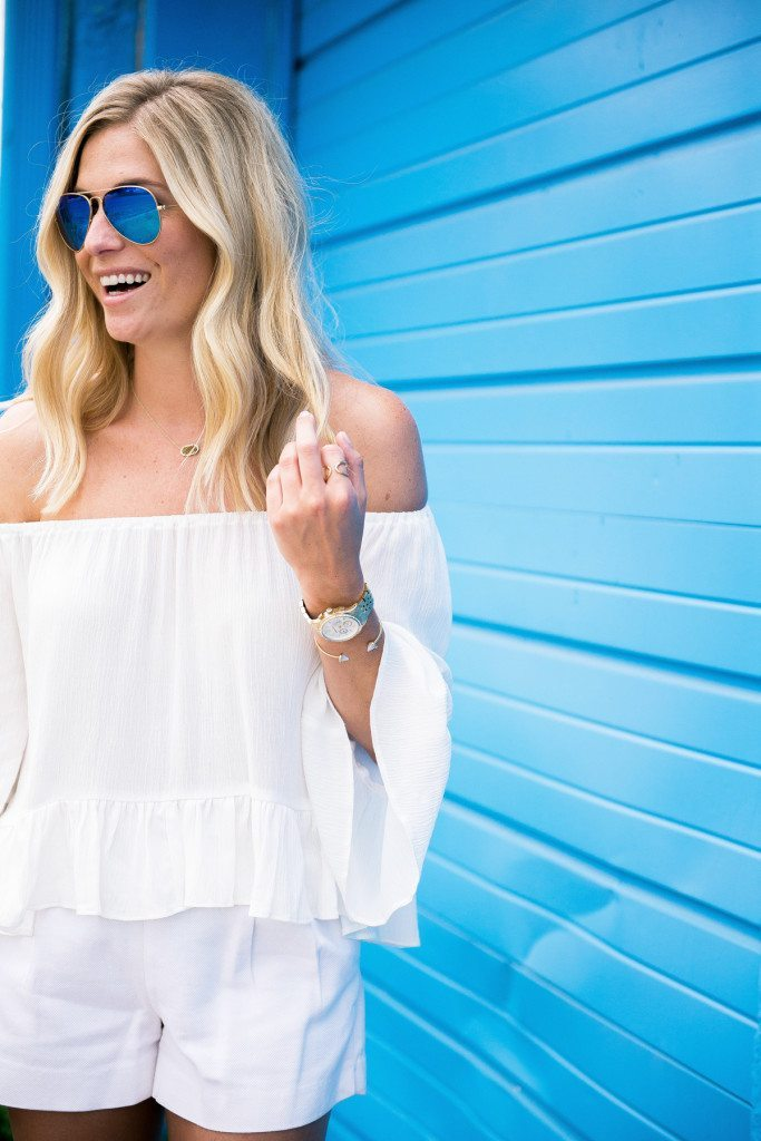 white off the shoulder top-dallas blogger-summer style tips
