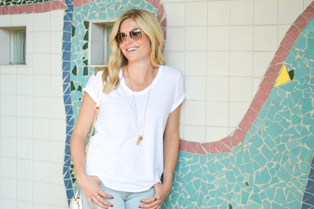 basic white t shirt and jeans-dallas blogger-summer fashion