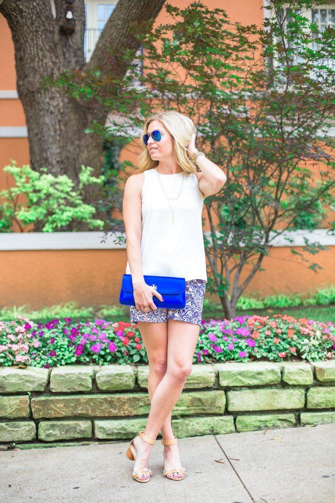 paisley floral shorts