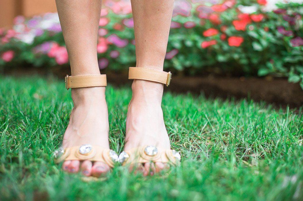 crystal ankle strap sandal