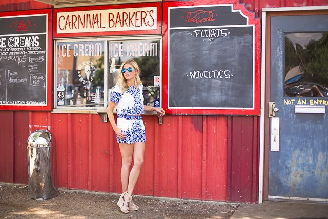 blue and white shorts and top-dallas fashion blogger-fourth of july outfit