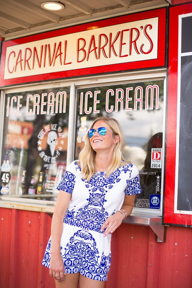 blue and white short set-dallas fashion blogger