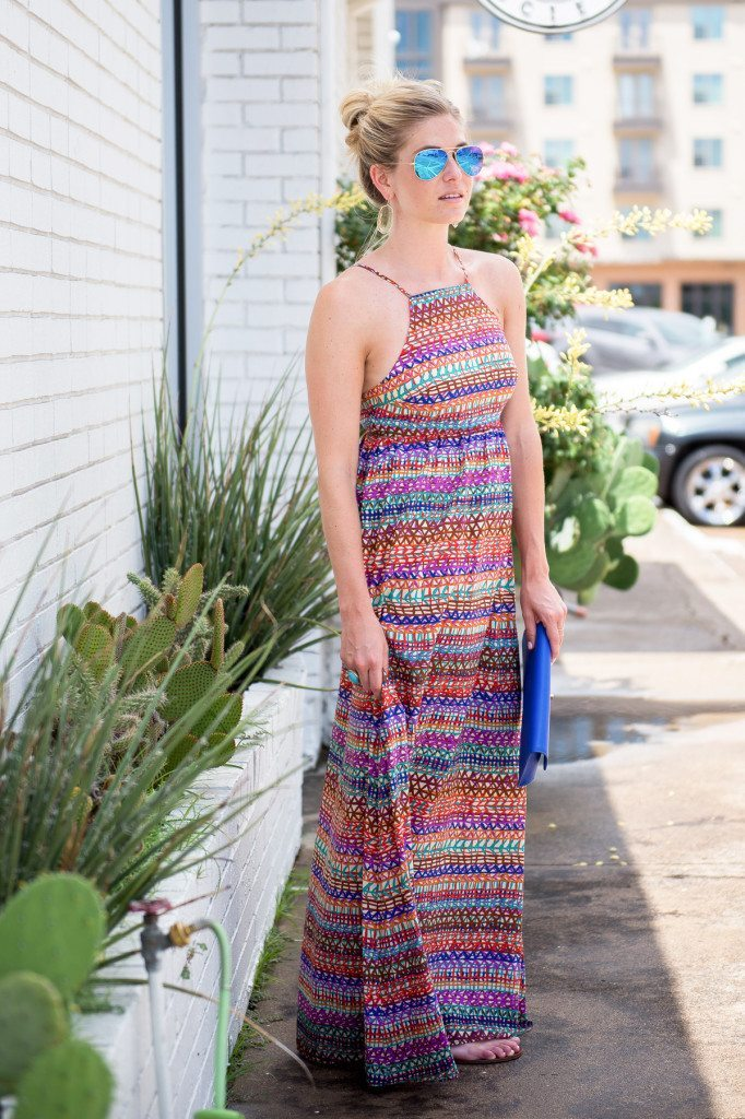 rainbow stripe maxi dress-summer dresses-dallas fashion blogger