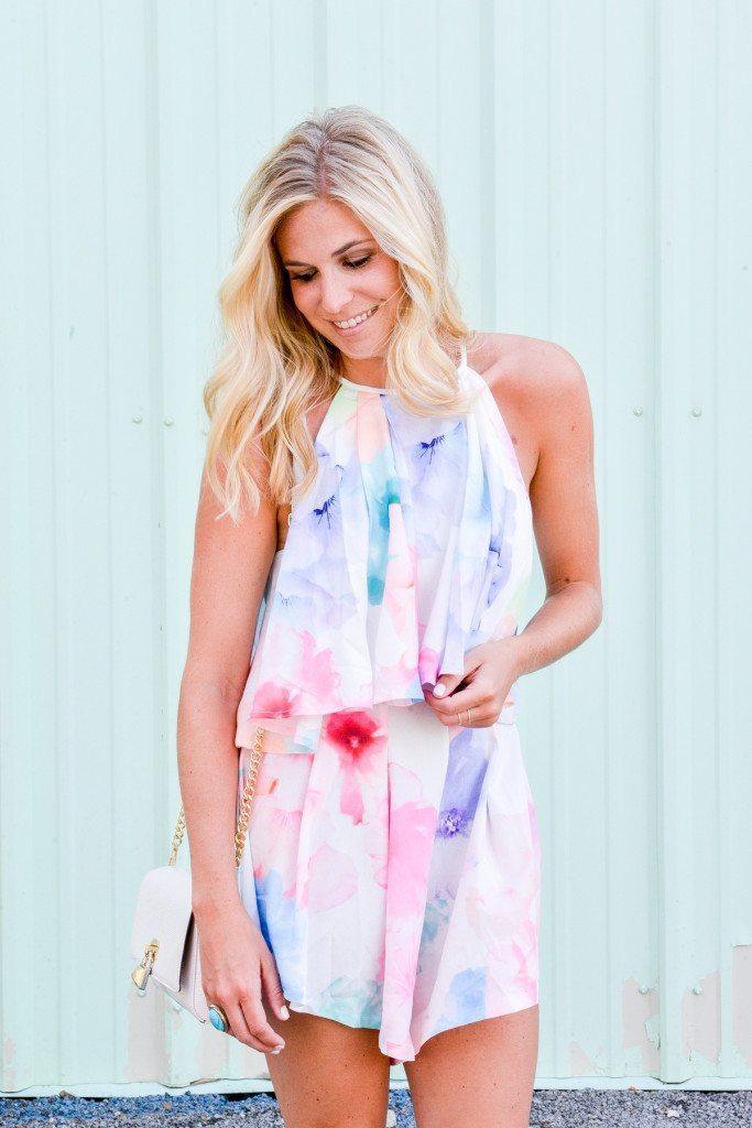 pastel watercolor romper-dallas blogger