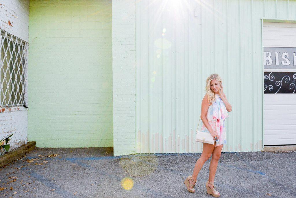 printed pastel romper-dallas fashion blogger