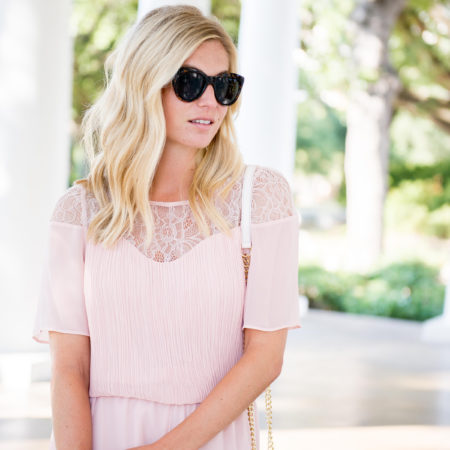 lace sleeve romper-bcbgeneration-wedding outfit-dallas blogger