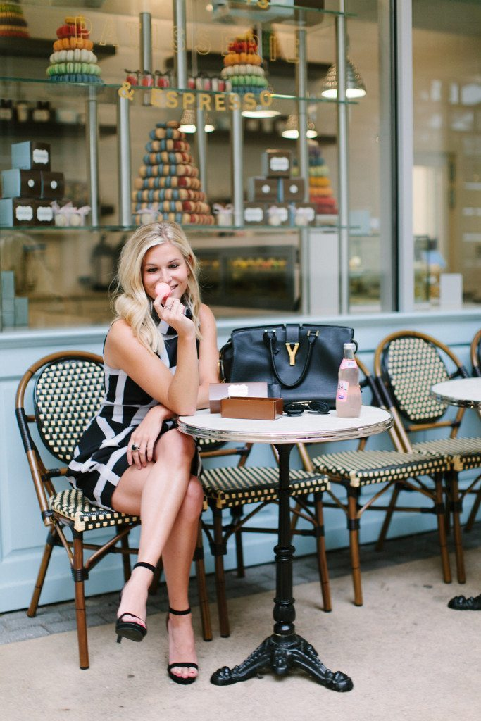 black and white print dress-dallas fashion blogger