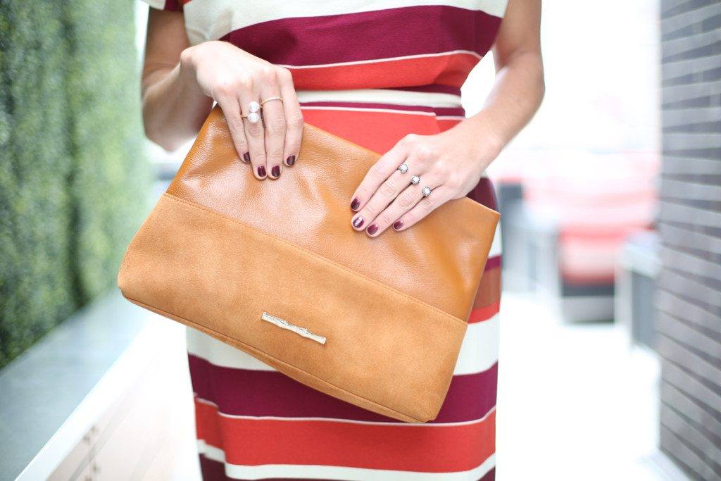 camel clutch for fall-double pearl ring-stripe pencil dress-kendra scott double ring rose gold