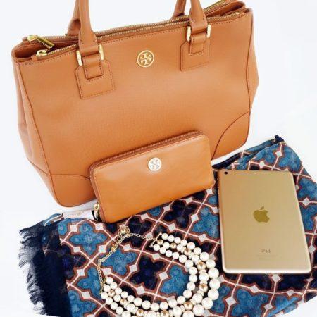 tory burch purse-gold mini ipad-blog giveaway