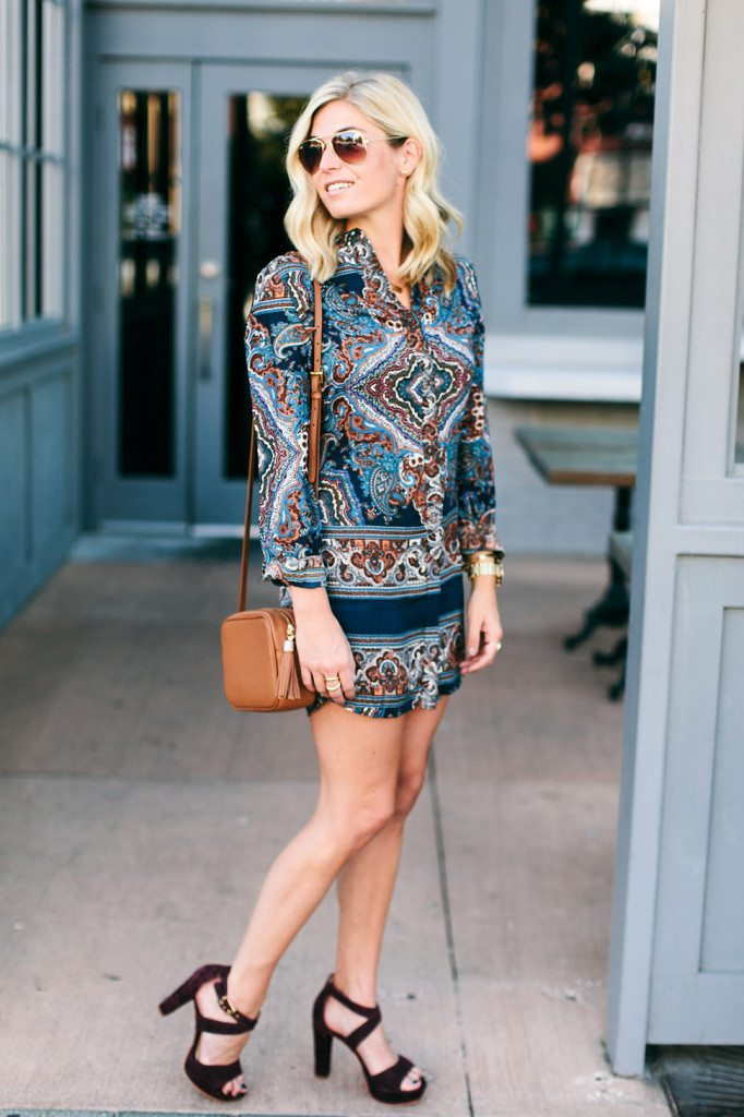 missguided gretta shirtdress-paisley print shirtdress-fall trends 2015