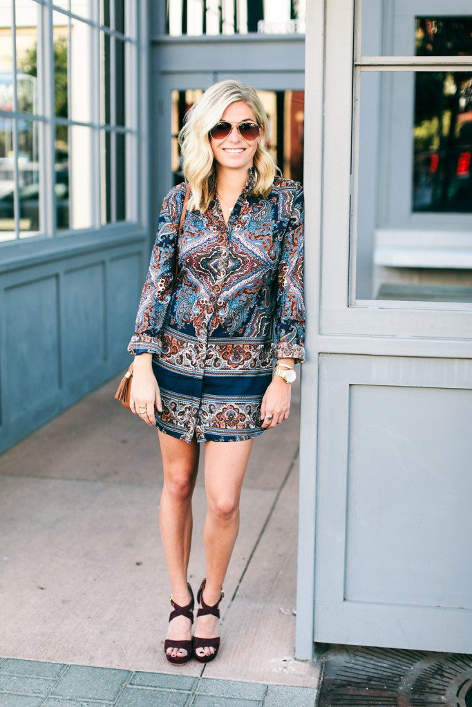 paisley shirtdress-fall shirtdress outfit-fall printed dress-dallas fashion bloggers