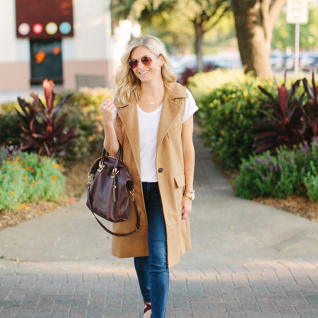 tan sleeveless vest-fall outfit idea-dallas fashion bloggers-burgundy satchel
