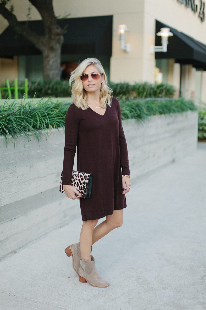 v neck sweater dress from loft