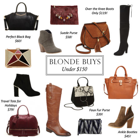 boots and bags under $150