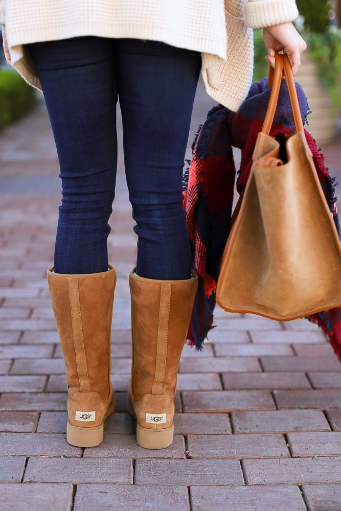 classic ugg boots in chestnut