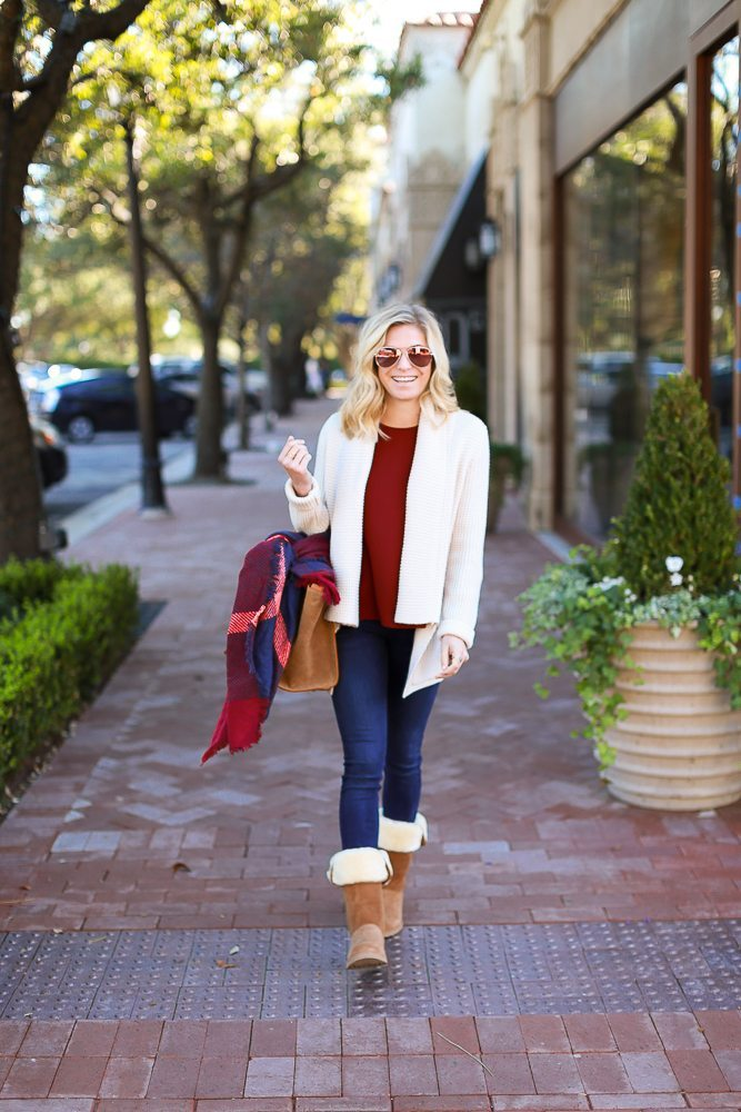 casual winter outfit with ugg boots