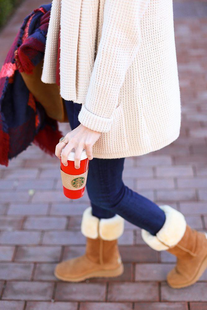 coffee run wearing ugg boots