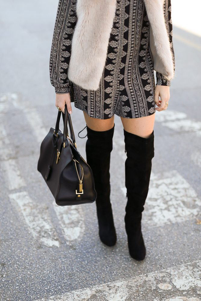 black over the knee boots-winter outfit-ysl handbag