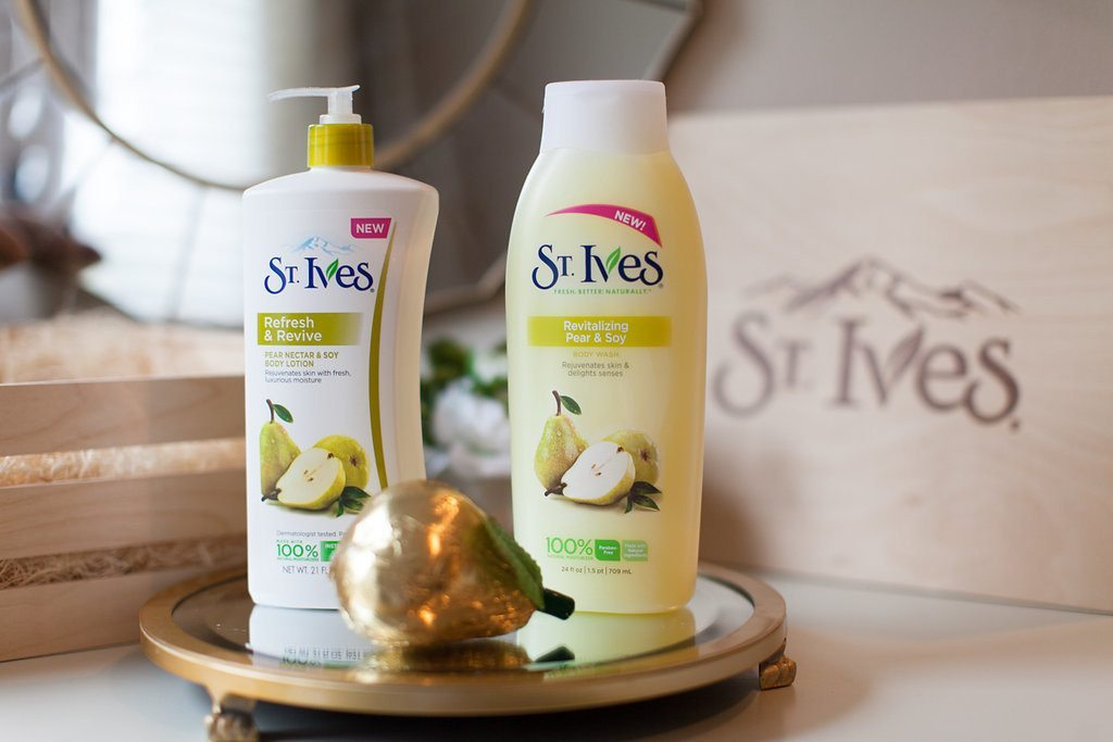 st ives pear nectar and soy body lotion