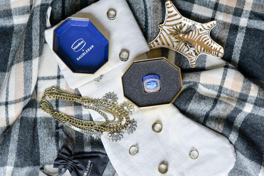 crystal vaseline jar-baublebar vaseline jar-zebra jewelry tray-stocking stuffer ideas
